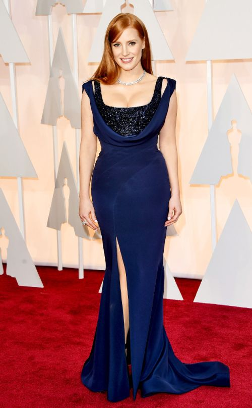 Jessica Chastain in Givenchy at the Academy Awards 2015