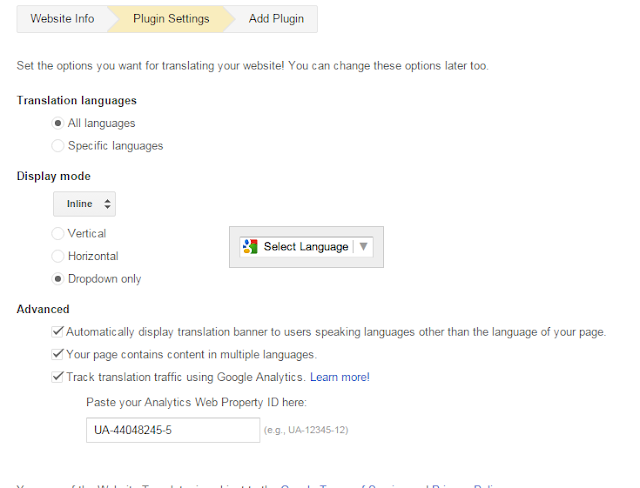 Install Website Translator on Your Blog and Website