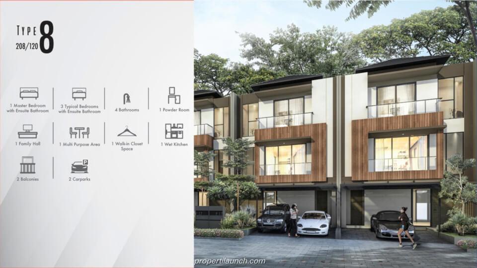 Feature Rumah Cluster Kazumi @ The Zora BSD Tipe 8