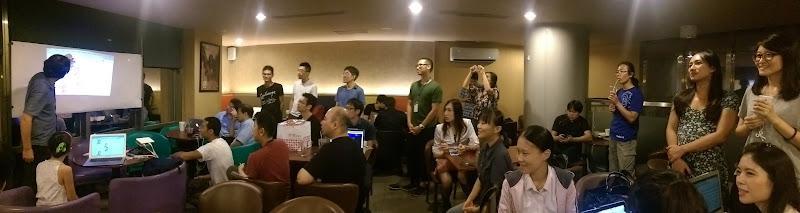 Hacking Thursday 和 WoFOSS 聯合舉辦的活動,佟輝攝影