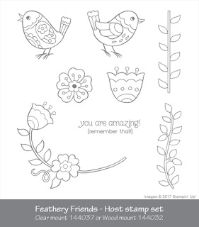 Feathery Friends Host Stamp Set by Stampin' Up!