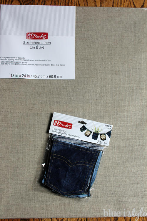Denim pocket organizer supplies