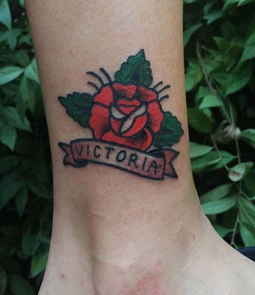 ankle name tattoo ayak bileği isim dövmesi