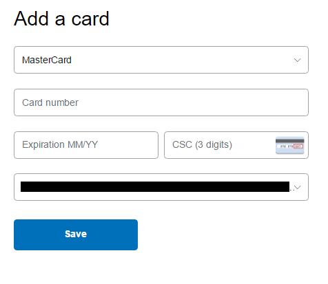 Lier une carte mastercard avec Paypal