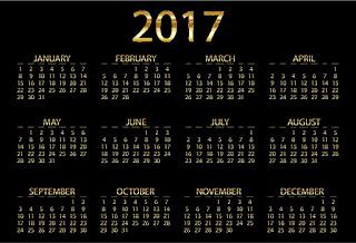 2017カレンダー無料テンプレート33