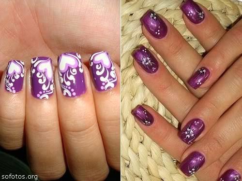 imagenes de uñas modernas . lindas decoraciones de uñas. decorados con esmalte de varios colores