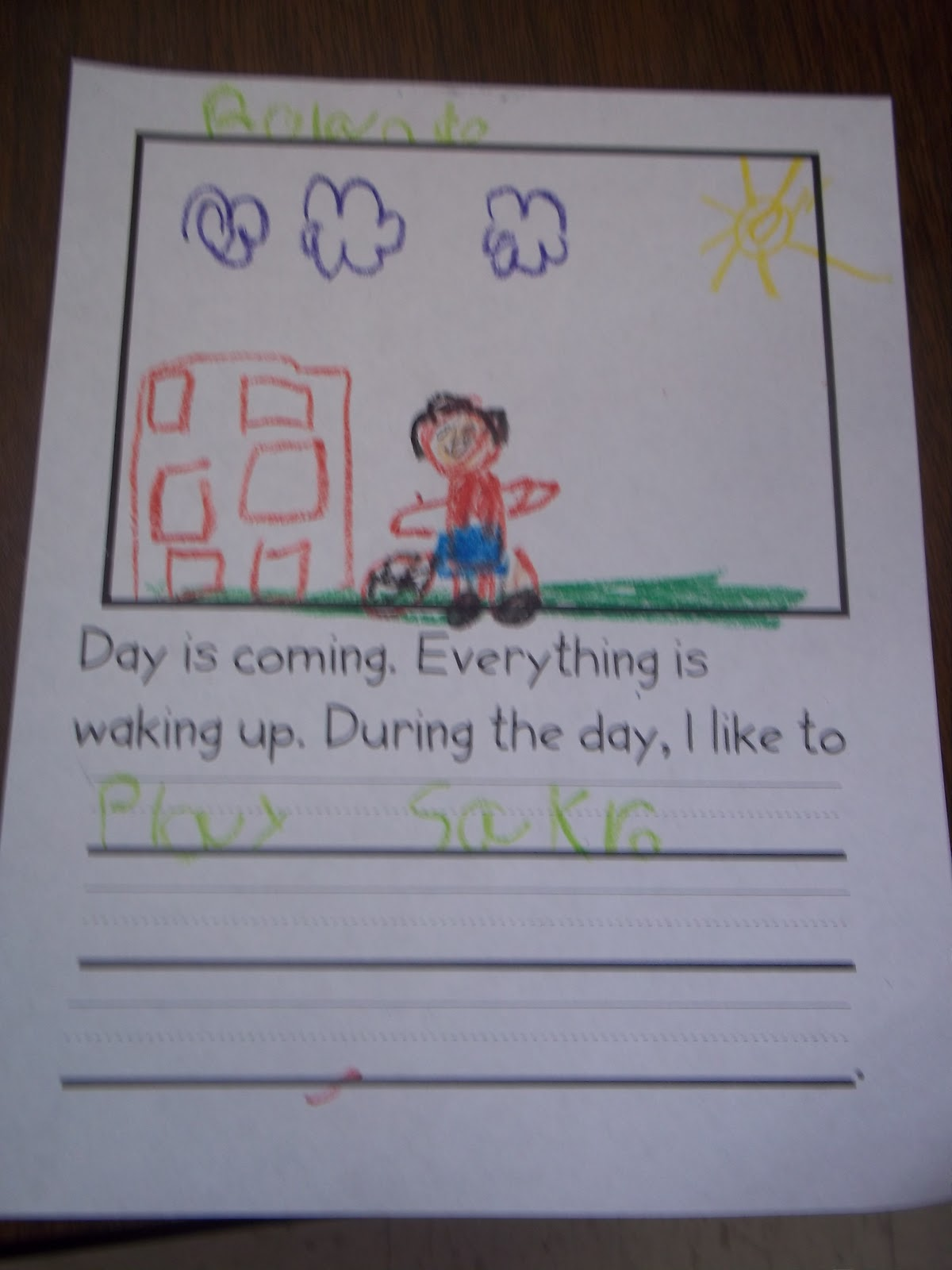 Mrs Wood S Kindergarten Class Day And Night Graph
