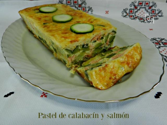 """·Pastel de calabacín y salmón"""""""