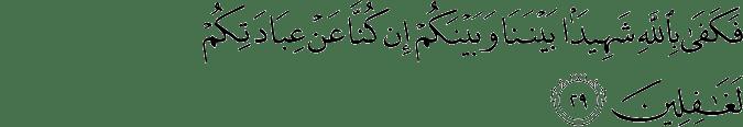 Surat Yunus Ayat 29