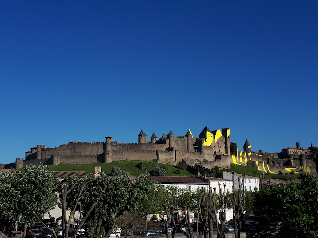 Carcassonne medieval citadel on the hill