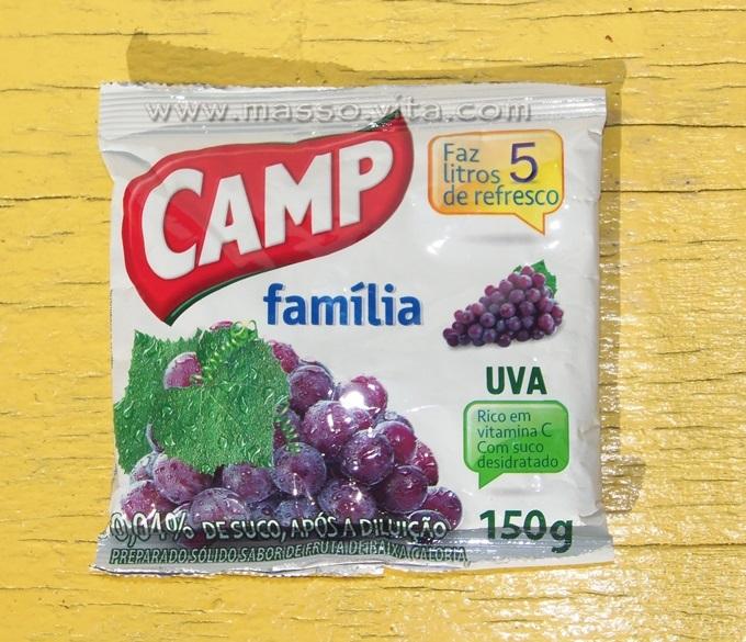 Refresco em pó Camp Família Uva