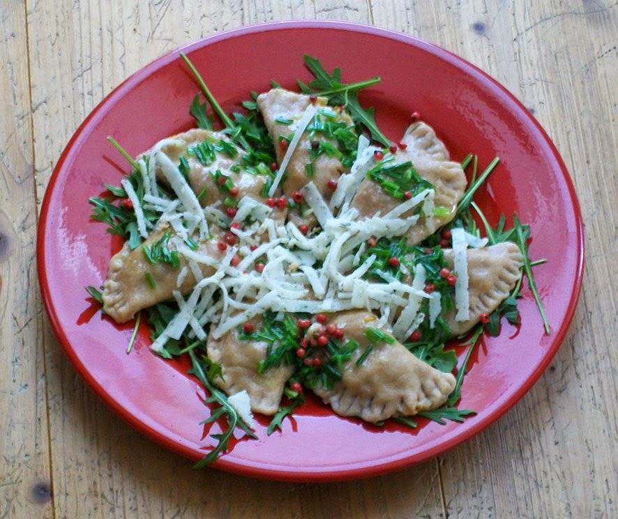 veganes Ravioli mit Kürbis - hauptspeise