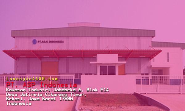 Lowongan Kerja PT. ASP Indonesia Cikarang