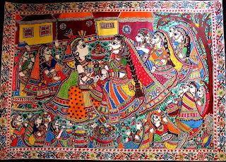 Madhubani Paintings of Krishna