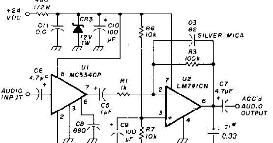 Auto gain Control op amp Circuit Diagram ~ Circuit Diagram