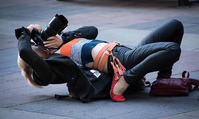 Crazy Photographers position