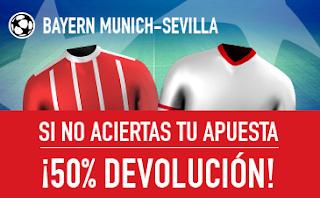 sportium promocion 10 euros Bayern vs Sevilla 11 abril