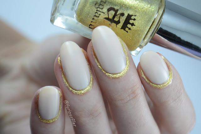 gold glitter a england new trend nail industry tracylee