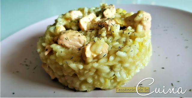 Risotto, arròs, salmó, l'essencia de la cuina, blog de cuina de la Sonia, arroz, salmón