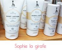 soin bio pour bébé Sophie la Girafe