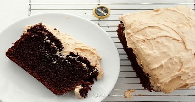 Guinness Chocolate Cake With Peanut Butter Frosting Recipe