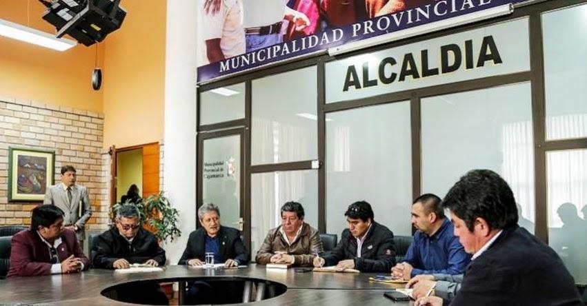 Alcaldes de 13 provincias de Cajamarca participan hoy del Muni Ejecutivo 2018