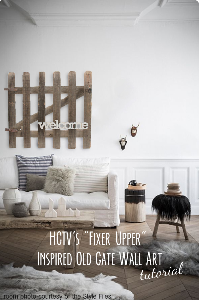 Art Décor: Mimiberry Creations: Fixer Upper Inspired Old Gate Wall Art