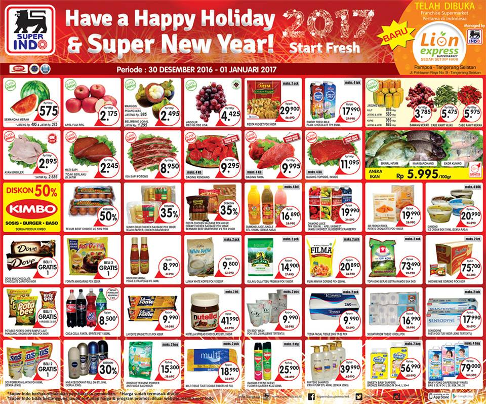 Katalog Harga Promo Superindo 30 Desember – 1 Januari 2017
