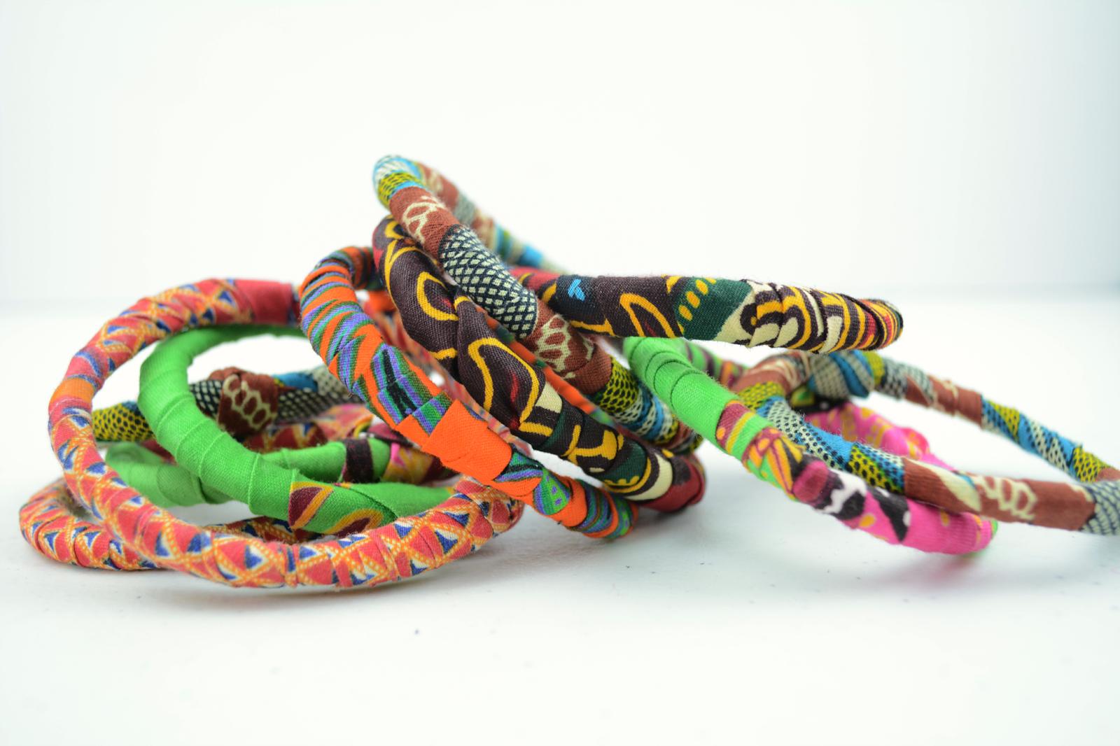 ankara print bracelets
