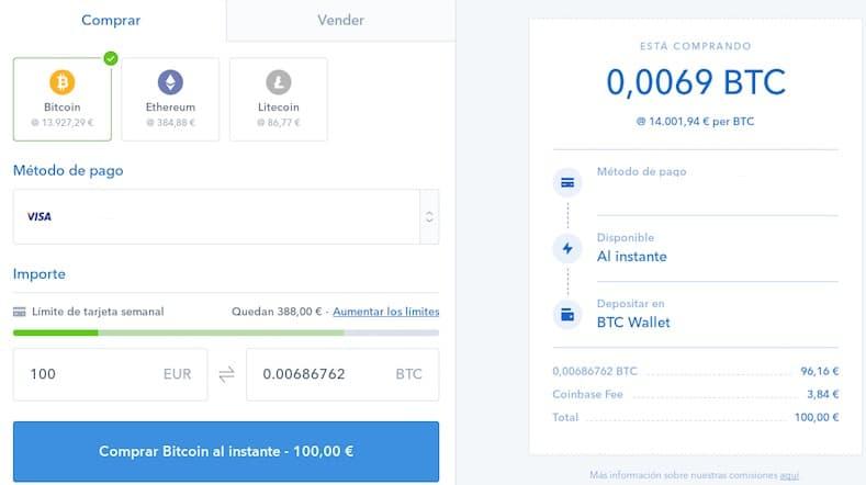 comprar coinbase monedas virtuales con euros dolares