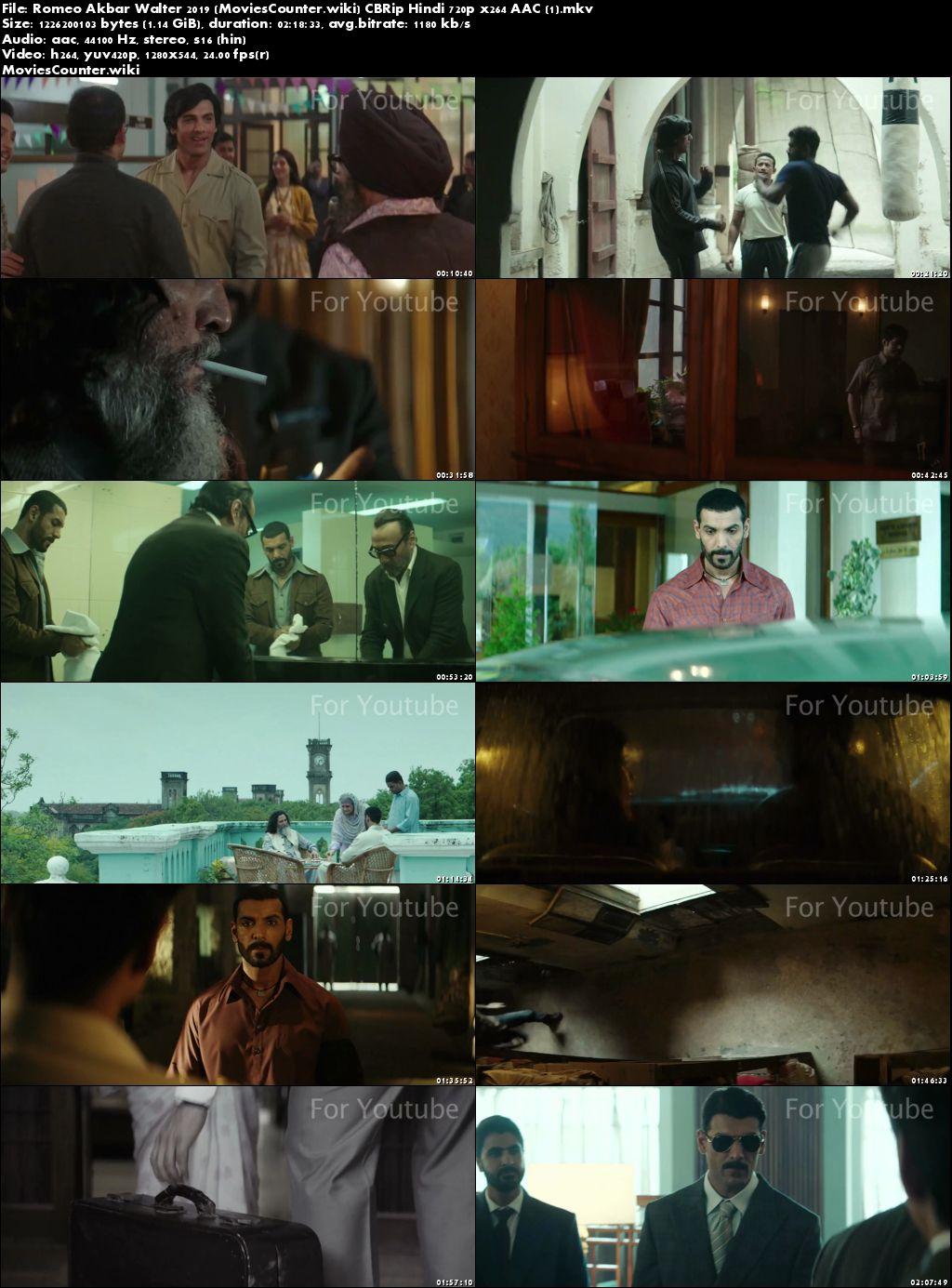 Screen Shots Romeo Akbar Walter 2019 Hindi HD 720p