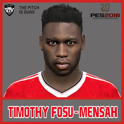 PES 2016 Timothy Fosu-Mensah (Man. United) Face by