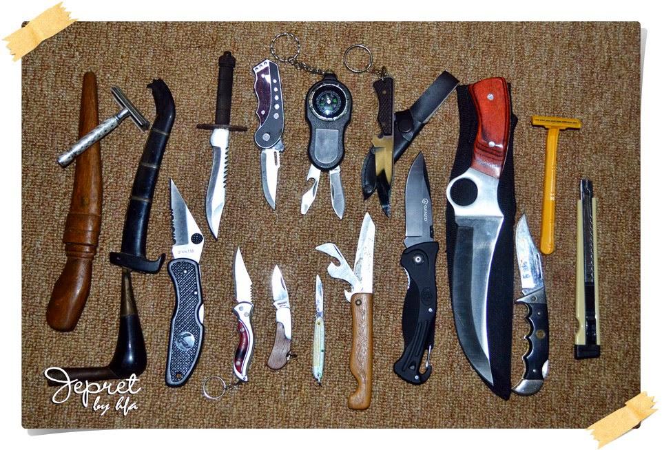 pisau sebagai alat (tool) atau senjata (weapon)
