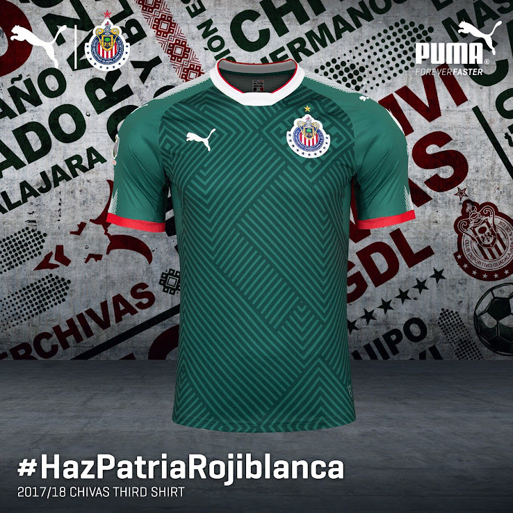 competitive price 31424 fb60e Chivas 2017-2018 Third Kit Released - Footy Headlines