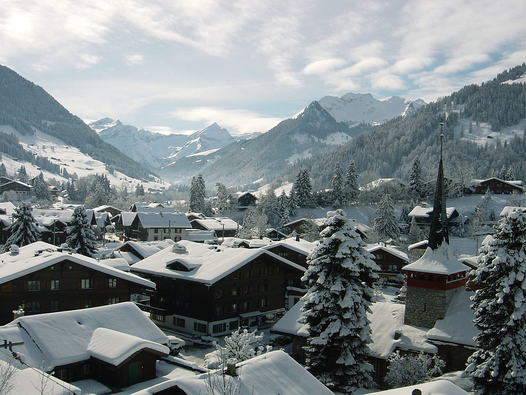 Welcome to Gstaad, Switzerland. Photo: WikiMedia.org.