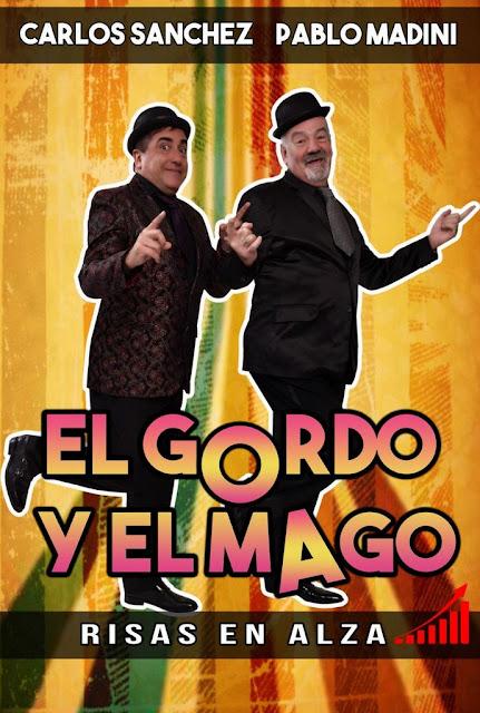 Dos artistas de primer nivel en un show de humor mágico, el humorista Carlos Sánchez y el mago Pablo Madini juntos