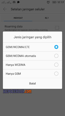 cara setting internet 4g lte only
