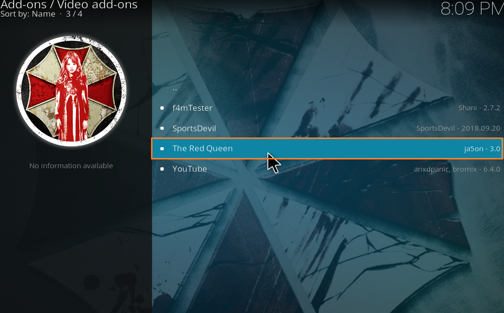 The Red Queen Addon - How To Install The Red Queen Kodi
