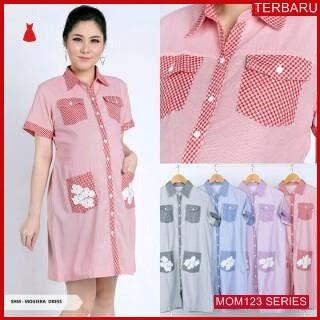 MOM123D17 Dress Hamil Menyusui Bunga Kemeja Dresshamil Ibu Hamil