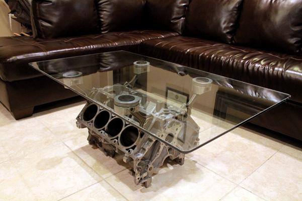 Decorando y Renovando: DIY: Mesas de bloque motor