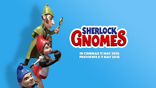 Sherlock Gnomes Logo Wallpaper