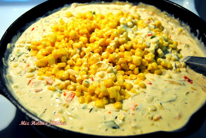 Baked Creamed Skillet Corn at Miz Helen's Country Cottage