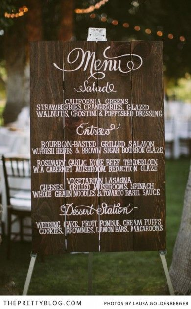 Menu Should Match Your Unique Wedding Style With So Many Options From Individual Cards Or Larger Boards Here Are Some Of Our Favorite That