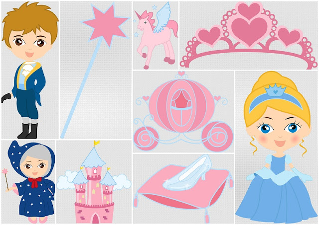 Magic Cinderella Babies Clip Art.