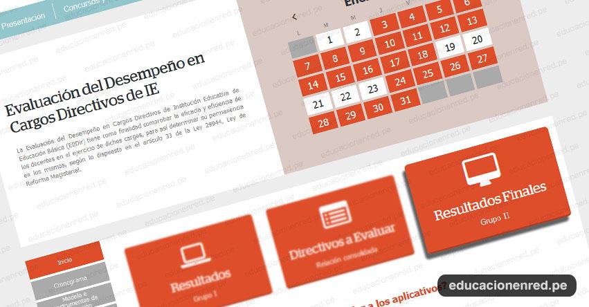 MINEDU publicó los resultados Finales de Evaluación del Desempeño en Cargos Directivos de IE, Grupo II - www.minedu.gob.pe