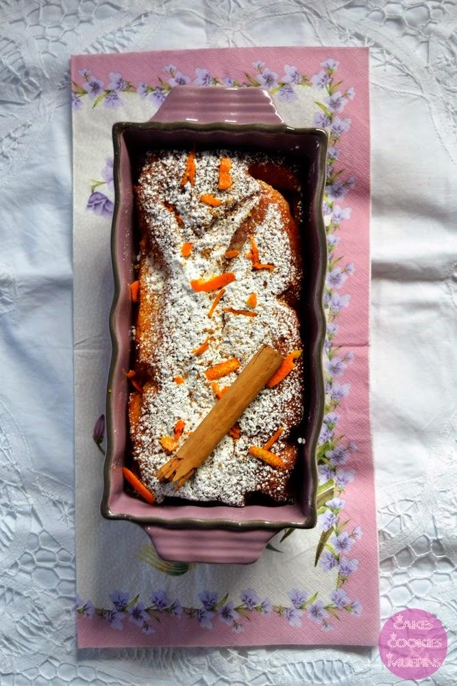 Bizcocho de Naranja con Harina de Maiz #Celiacos #sinazucar