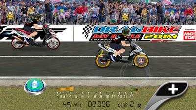 Tampilan Game Drag Racing Bike Edition