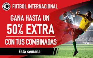sportium Fútbol Internacional: Extra en Combinadas hasta 3 junio