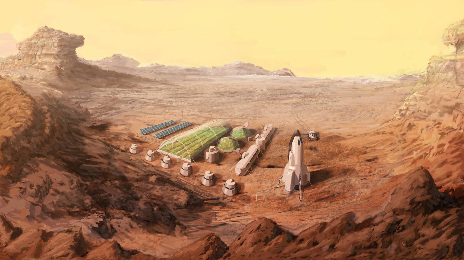 Mars base by Marcus Sinclair