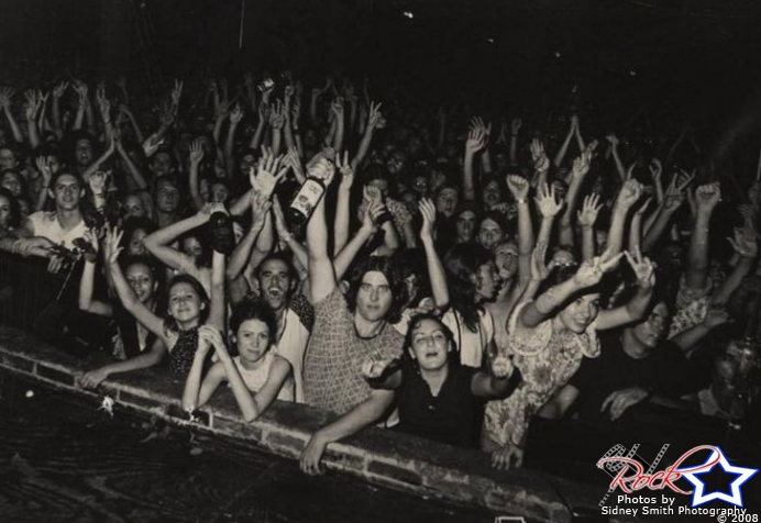 Fanaticos en la Warehouse en 1971.